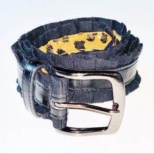 Betsey Johnson | belt | black/leopard print |